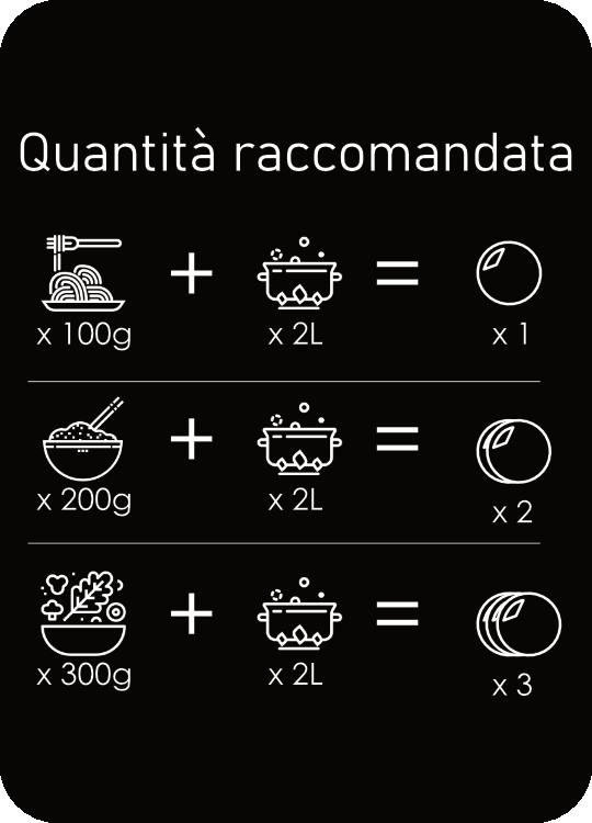 Perle di Sale: pastiglia monodose di sale iperpuro di Volterra - per salare l'acqua di cottura, diminuendo la quantità di sale giornaliera